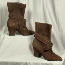 """Aerosoles Daim 3.5 """" Talon Femmes Taille 9 Chaussures Bottes Cravate Dét... - $33.48"""