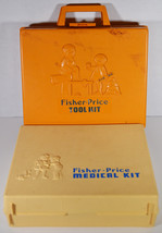 Set 1977 Fisher Price Medical & Tool Kits Childrens Vintage Toys - $18.99