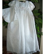 Baby Girls Embroidered Whites Christening Boutique Polyester Dress Set, ... - $56.83