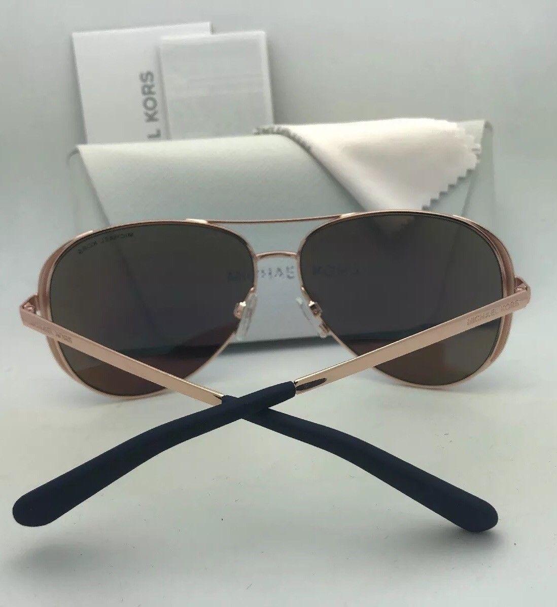 Polarized MICHAEL KORS Sunglasses CHELSEA MK 5004 1014T5 Gold Brown w/ Brown