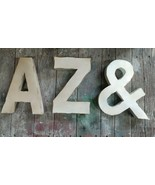 "Individual Metal Letter wall decor Medium 12"" vintage letters industrial... - $25.00"
