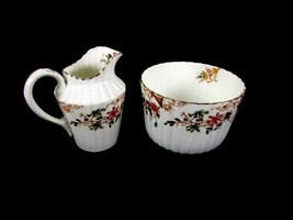 Vintage Old Avon England Floral Creamer Pitcher and Bowl Dish 195320 - $9.51