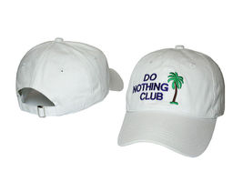 Do Nothing Club Hat Cap Strapback Embroidered Unstructured White USA SELLER - $35.00