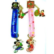 Tokyo Disney Resort 2013 New Year Mickey & Minnie Charm with Pair Strap ... - $62.37