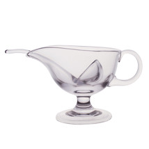 Krosno Handcrafted Glass 9.5 Oz. 280 ml. Sauce Boat With Spoon - Made in... - €20,50 EUR
