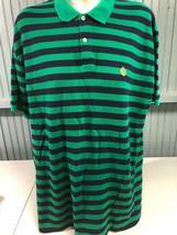 Ralph Lauren Green Label Stripe Polo Shirt XL Cotton Rugby Style - $16.51