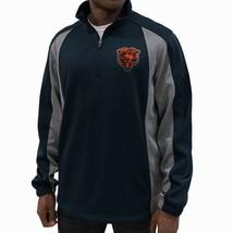 Chicago Bears NFL Men's 1/4 Zip Pullover Jacket Poly w/ Bonded Fleece Lining NEW
