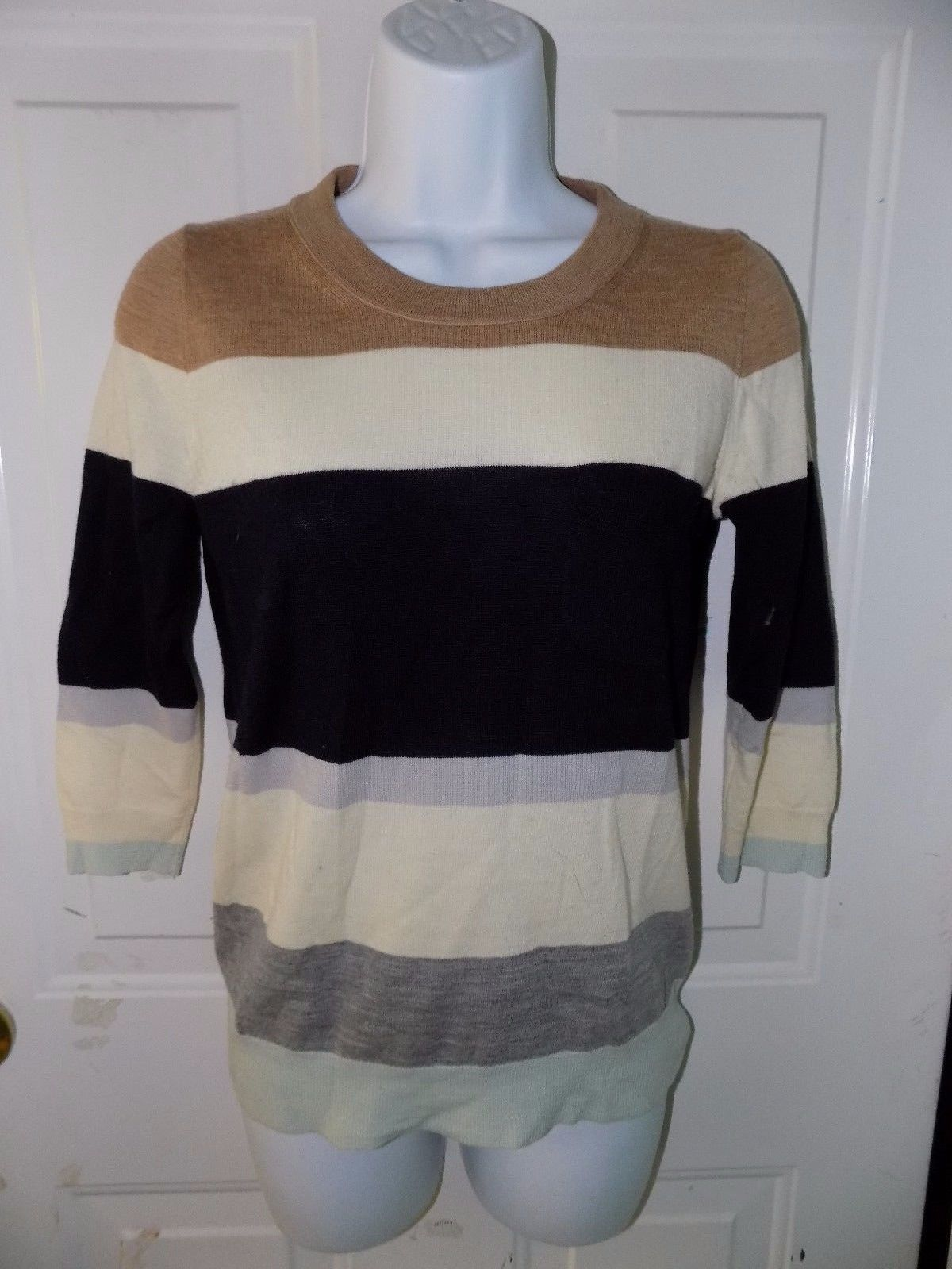 Primary image for J. CREW Striped Multi-Colored Long-Sleeve Sweater Size XS EUC