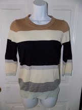 J. CREW Striped Multi-Colored Long-Sleeve Sweater Size XS EUC - $36.49