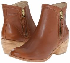 "NEW 1883 by Wolverine Womens Ella Brown Tan Leather 5"" Side Zip Ankle Bootie NIB image 7"