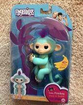100% Authentic WowWee Fingerlings Interactive Baby Monkey - ZOE TURQUOISE rmay60 - $11.88