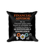 Financial Advisor gifts - Square Pillow Case w/ stuffing - $23.00
