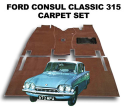 Ford Consul Classic Carpet Set - Superior Deep Pile, Latex Backed - $157.89