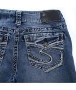 Silver Suki Fluid Distressed Flap Pocket Mid Boot Cut Jeans Womens 27 27x29 - $29.56