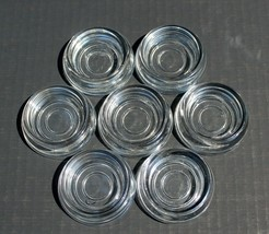 Vintage Lot of 7 Anchor Hocking Clear Glass Furniture Coasters EUC! - $24.99