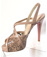 NEW CHRISTIAN LOUBOUTIN Baladeuse Cutout Slingback Sandals (Size 37) - $... - $699.95