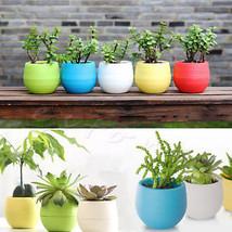 Wholesale Mini Plastic Flower Pot Succulent Plant Flowerpot For Home Off... - $1.99
