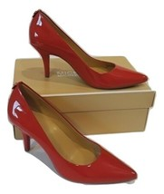 MICHAEL KORS MK FLEX MID PUMP RED LEATHER SHOES SIZE US 8M / EU 38 - $64.99