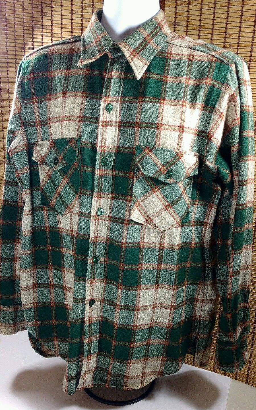 383f74f08fe5c Vintage Woolrich Mens Wool 85/15 Plaid Shirt and 50 similar items. S l1600