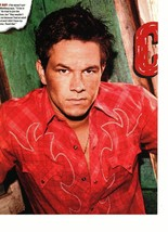 Marky Mark Wahlberg magazine pinup clipping red shirt older looking tough Bop