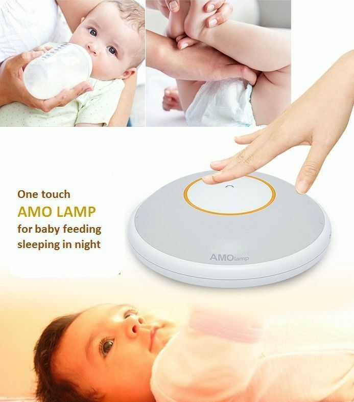 AMO Lamp For Baby Feeding Sleep Nursery & MultiUse One Touch Rechargable Comfort