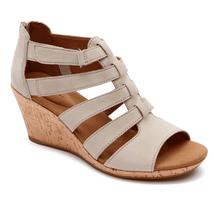 ROCKPORT Briah Gladiator Wedge Sandals sz 10 M New - $29.65