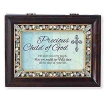 Roman Precious Child Brown Large Jeweled Music Box - $48.57