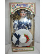 """Angelina Collection 16"""" Porcelain Girl Doll ~ Blond Hair Blue Eyes Freckles - $17.07"""