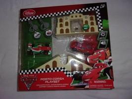 Disney Store Cars 2 Porto Corsa Key Charger Playset Age 3+ New Sealed - $15.99