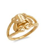 10K Yellow Gold Cute Teddy Bear Ladies Ring - $109.99