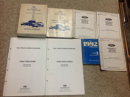 1992 Ford F & B 700 800 900 Truck Service Manual Set w EWD + Glasses & S... - $247.22