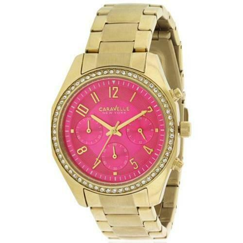 Primary image for Women's Caravelle New York 44L168 Melissa Pink Gold Chronograph Analog Watch