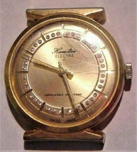 Vintage Homilton Electra 21 Gold-Tone Watch w/Crystals Swiss Parts Repair - $19.95