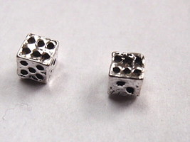 Dice Stud Earrings 925 Sterling Silver Corona Sun Jewelry die craps vega... - $3.47