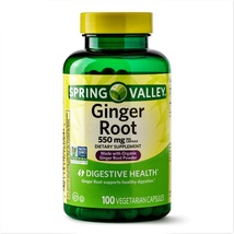 Spring Valley Ginger Root Digestive Health 550 mg 100 Vegetarian Capsules - $15.80