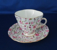 Clarence, Bone China, Cup & Saucer, Made in England, Roses - $12.00
