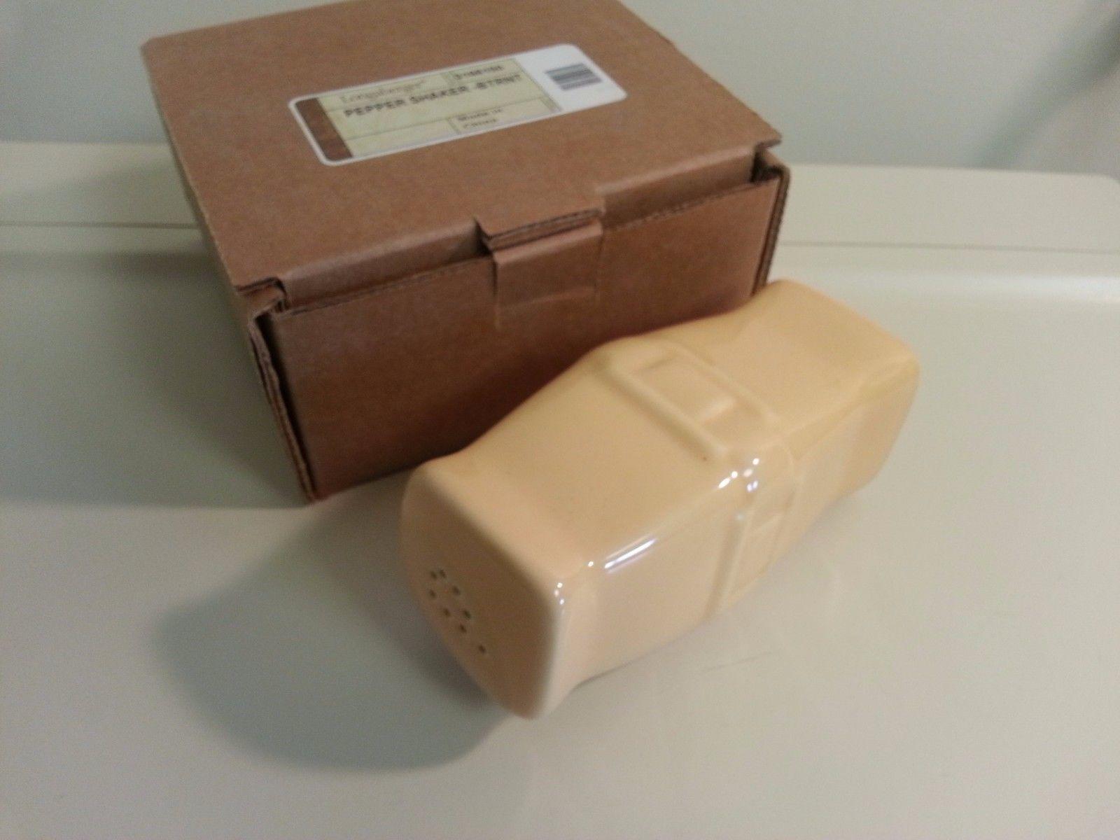 Longaberger Pottery Butternut Pepper Shaker New in Box 3166150