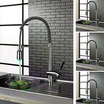 Contemporary Chrome Finish Single Handle LED Kictchen Faucet - $257.35