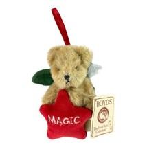 Boyd's Bears Ornament Red Star Green Angel Wings 'Magic' Bear NWT - $11.30