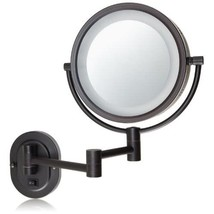 Jerdon HL65BZD 8-Inch Lighted Direct Wire Wall Mount Makeup Mirror with ... - $74.99