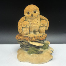 VINTAGE OWL FIGURINE resin statue sculpture bird Hamilton lil whoots mot... - $24.70