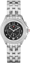 $1900 Nwt Michele Belmore Chrono Diamond, Black Diamond Dial MWW29B000004 - $895.00