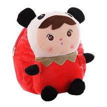 Lovely Panda Dolls Toddler Backpack Infant Villus Knapsack Cute Baby Bag 1-3Y
