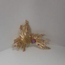 Vintage Signed Gold-tone Aurora Borealis Brooch /Pendant - $24.74