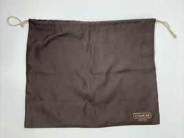 """Coach Brown Cloth Dust Bag w/ Draw String 16"""" x 13"""" - $9.89"""