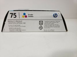 HP 75 tri-color ink.. Expired .. Factory Sealed image 4