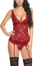Women's Sexy Backless Lace Babydoll with Garter Sexy Lingerie Set image 9