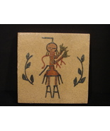 """Vintage Native American Navajo Art Sand Painting """"Windway"""" Signed  E. Br... - $11.99"""