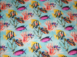 BTY Windham CORAL REEF Aqua Print 100% Cotton Quilt Craft Fabric by the ... - $10.00