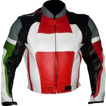 An item in the Fashion category: Black Red Biker Racing Leather Jacket